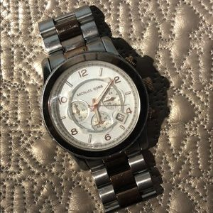 Authentic Michael Kors - Silver & Rose Gold Watch